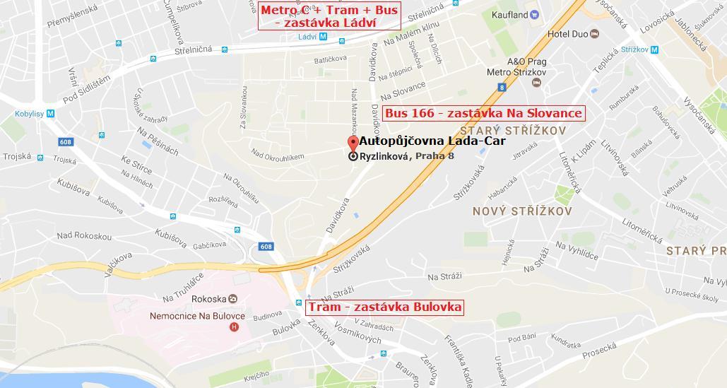 autopujcovna Lada-Car - Praha 8