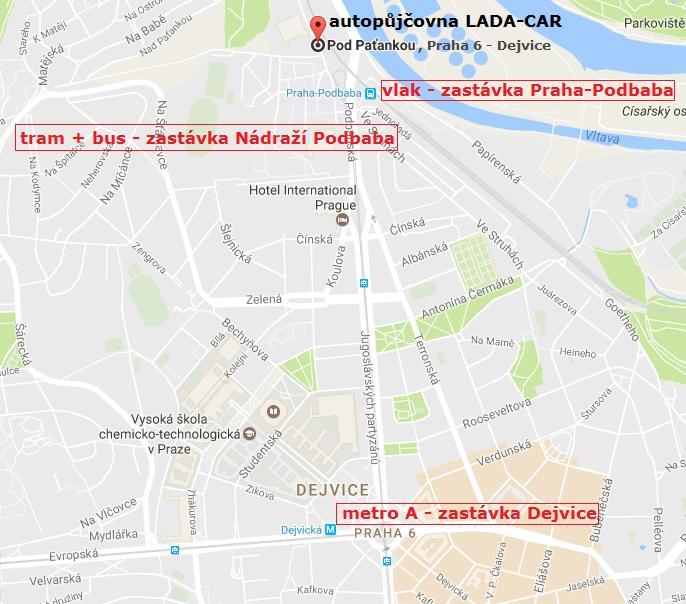 autopůjčovna Lada-Car - Praha 6